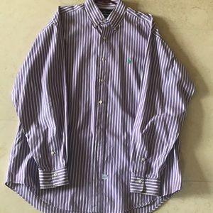 Ralph Lauren striped shirt.